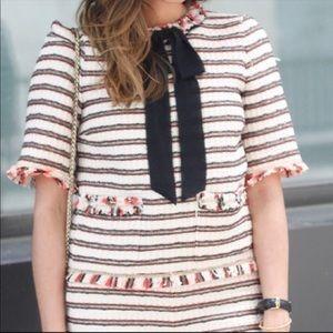 Zara Tweed Top with Bow